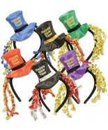 Happy New Year Headbands (asstd Colors) Party Accessory (1 Count) (1/Pkg) - $18.37