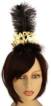 Happy New Year Headband With Feathers Party Accessory (Gold) - €25,59 EUR