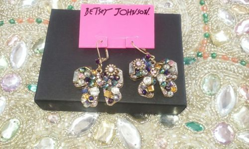 BETSEY JOHNSON BOWS WITH GORGEOUS JEWELS, CRYSTALS AND STONES NWT $45! image 2