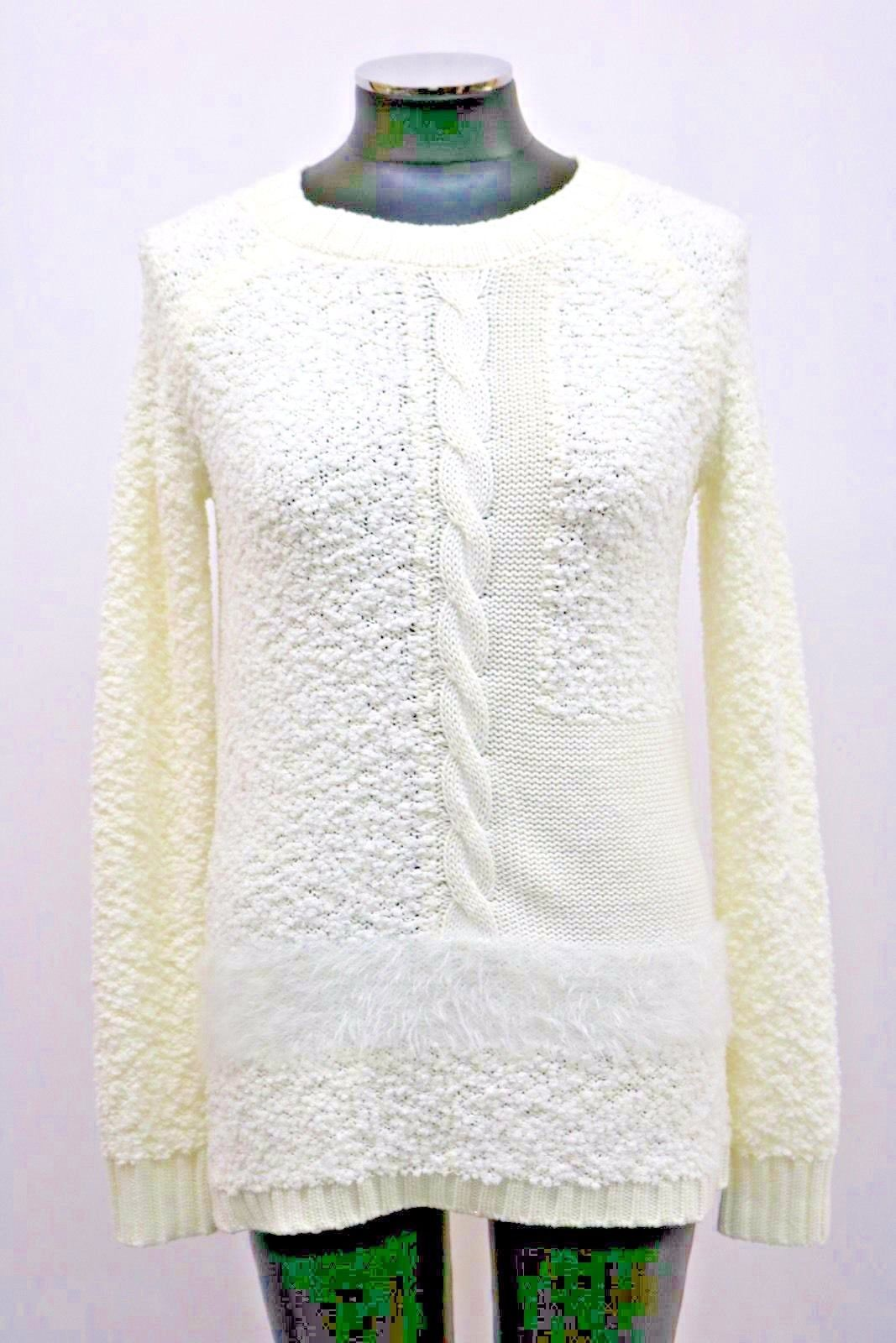 Sanctuary Sweater New Snuggle Cable Knit Winter White Size XS S MyAFC