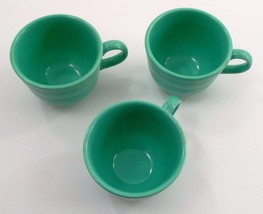 3 Clean EUC Homer Laughlin Fiesta Dinnerware Fiestaware Light Green Coffee Cups image 5