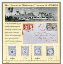 Hawaiian Missionary Stamps, Full Sheet of 4 x 37-Cent Postage Stamps, USA 2002,  - $8.25