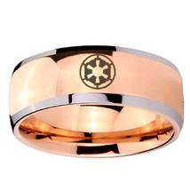8mm Dome Star Wars Empire Rose Gold IP Tungsten... - $34.99