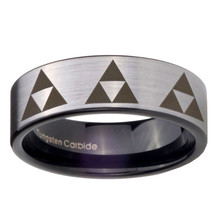 8mm Pipe Cut Multiple Zelda Triforce Tungsten S... - $39.99