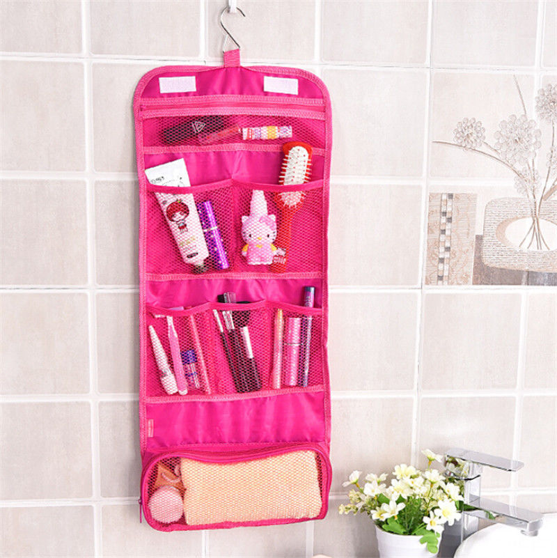 Portable Hanging Travel Foldable Cosmetic Makeup Case Wash Toiletry Storage Bag