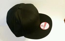1X - New Era 9Fifty Flat Snapback Hat Cap Blank { Black } Ne 9FIFTY - $14.99