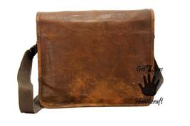 Leather satchel men's shoulder laptop women messenger cmputer men Genuine bags image 5