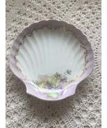 Shell Shape Dish Hand Painted Walker Paradise Soap Kitchen Bathroom Ceramic - $6.15