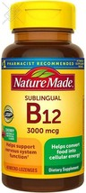Nature Made Sublingual Vitamin B12 3000 mcg Micro-Lozenges, 40 Count  - $15.88