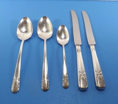 Rogers Talisman Silverplate Lot 5 Pcs- 2 Soup Spoons 2 Dinner Knives 1 T... - $16.99