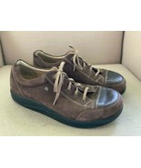 Finn Comfort Alamo Cap Toe Oxford Brown Leather US Mens 8.5 - $37.39