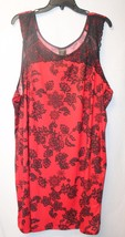 CUTE NEW WOMENS PLUS SIZE 3X APT. 9 RED & BLACK... - $21.28