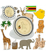 WR Zimbabwe 100 Trillion Dollars Gold/Silver Commemorative Coin Collecti... - $3.49