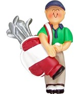 GOLFER GOLF ORNAMENT CHRISTMAS GIFT PERSONALIZED WE CAN CUSTOM PRINT NAME - $12.18