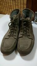 Mens Calvin Klein Jeans Eliot Shoes Ankle Lace Up Boots Suede Canvas 11 Brown - $56.95