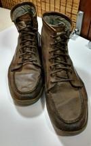 Calvin Klein Jeans Mens Eliot Boots Shoes Brown Suede Canvas Lace Up Size 11 - $37.95