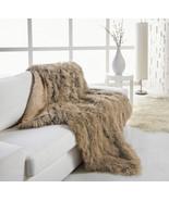 Large 120x180cm Genuine Camel Brown Tibetan Mongolian Lambskin Sheepskin... - $795.00