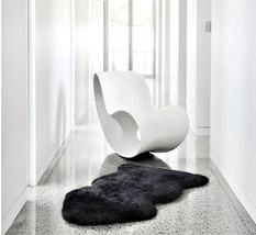 BLACK AUSTRALIAN MERINO sheepskin pelt hide throw rug premium quality - $189.00