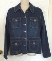 Chicos Platinum Denim Jean jacket Chico size 1 Women's size 8 - $27.72