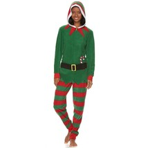 NEW ~ Elf Hooded Microfleece One-Piece Pajamas ... - $42.08