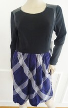 Nwt Kensie Fit & Flare Pleated Wok Day Plaid  Dress Sz S Small Purple Combo $99 - $44.50