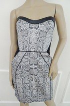 Nwt ABS Allen Schwarts Strapless Cocktail Party Sheath Dress  Sz 8 Silve... - $98.95