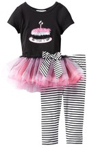 Little Girl 2T-6X Birthday Cake Tutu Dress Legging Set, Bonnie Jean image 1