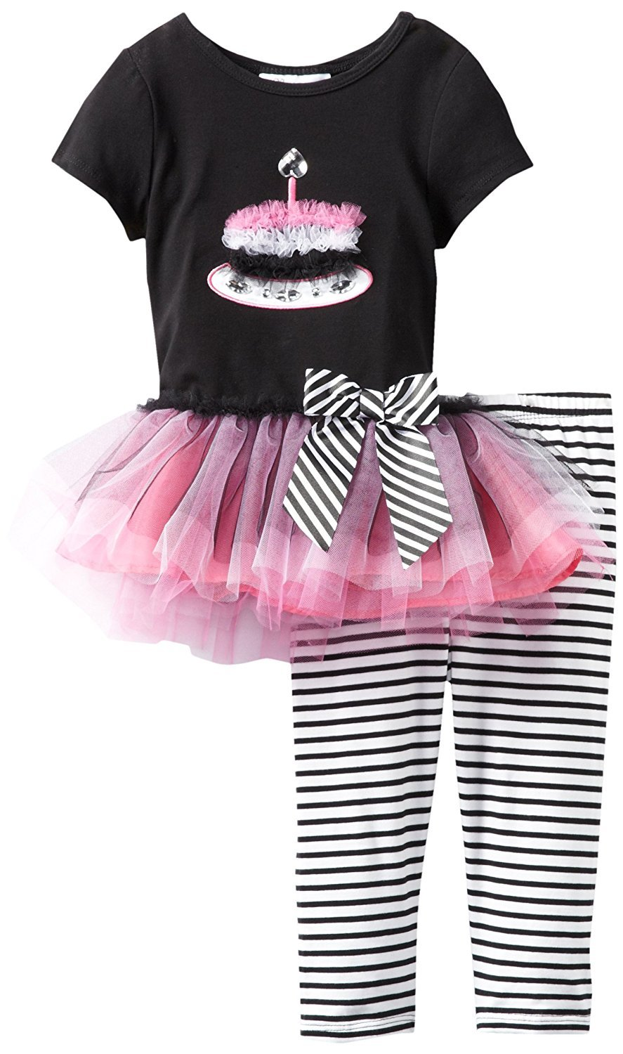 Little Girl 2T-6X Birthday Cake Tutu Dress Legging Set, Bonnie Jean