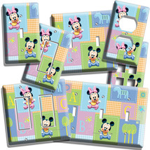 Baby Mickey Minnie Mouse Nursery Quilt Light Switch Plate Outlet Newborn Bedroom - $8.99+