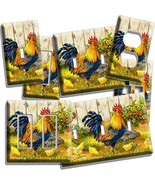 FARM FRENCH ROOSTER CHICKENS CHICKS LIGHT SWITCH PLATE OUTLET KITCHEN DI... - $8.09+