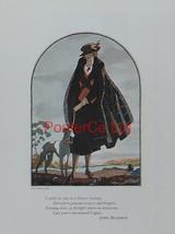 Vogue Magazine Cover Art - Lady in plaid - Leslie Saalburg 1922 - Framed... - $32.50