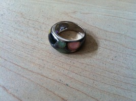 JADE 925 STERLING SILVER RING SIZE 8 - $54.99