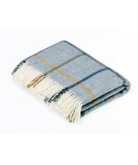 Shetland Quality - Pure New Wool - Windowpane - Aqua - Throw Blanket - $99.99+