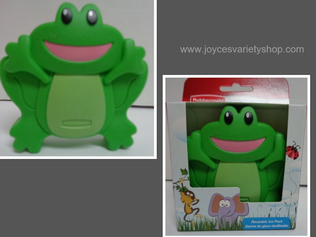 Rubbermaid ice pack green frog collage