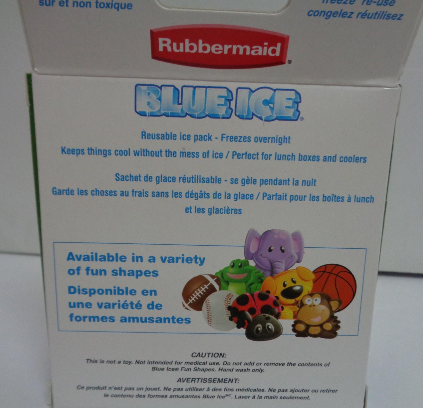 RUBBERMAID BLUE ICE PACK FUN SHAPE GREEN FROG NIB