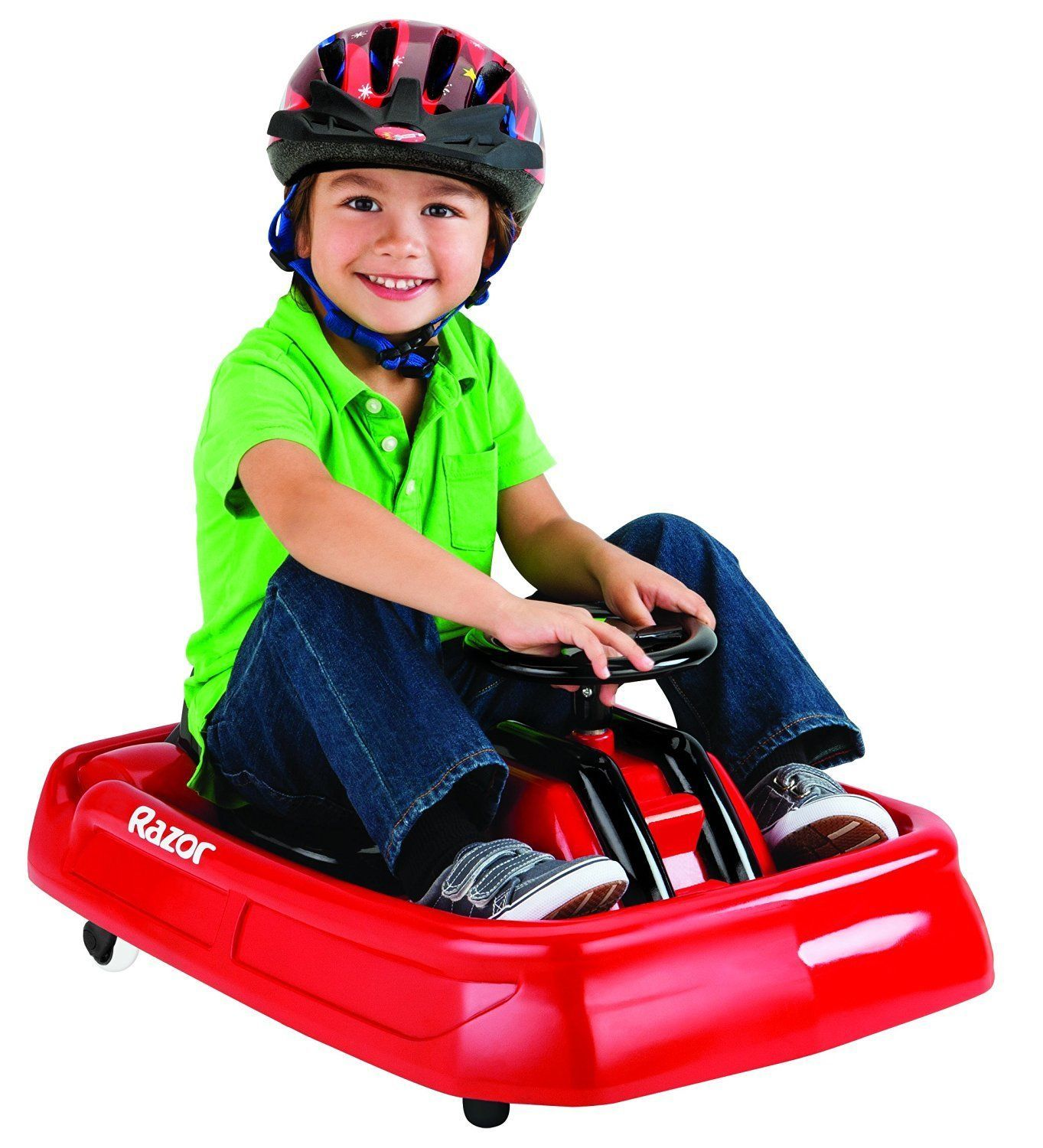 Razor Jr Cart Ride On Electric Powered Outdoor Car Toy For Kids Toddlers