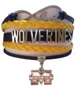 University of Michigan Wolverines Fan Shop Infinity Bracelet Jewelry - $12.99