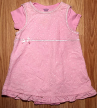 Girl's Size 3-6 M Months 2 Piece Pink George Floral Corduroy Dress & Ger... - $15.50