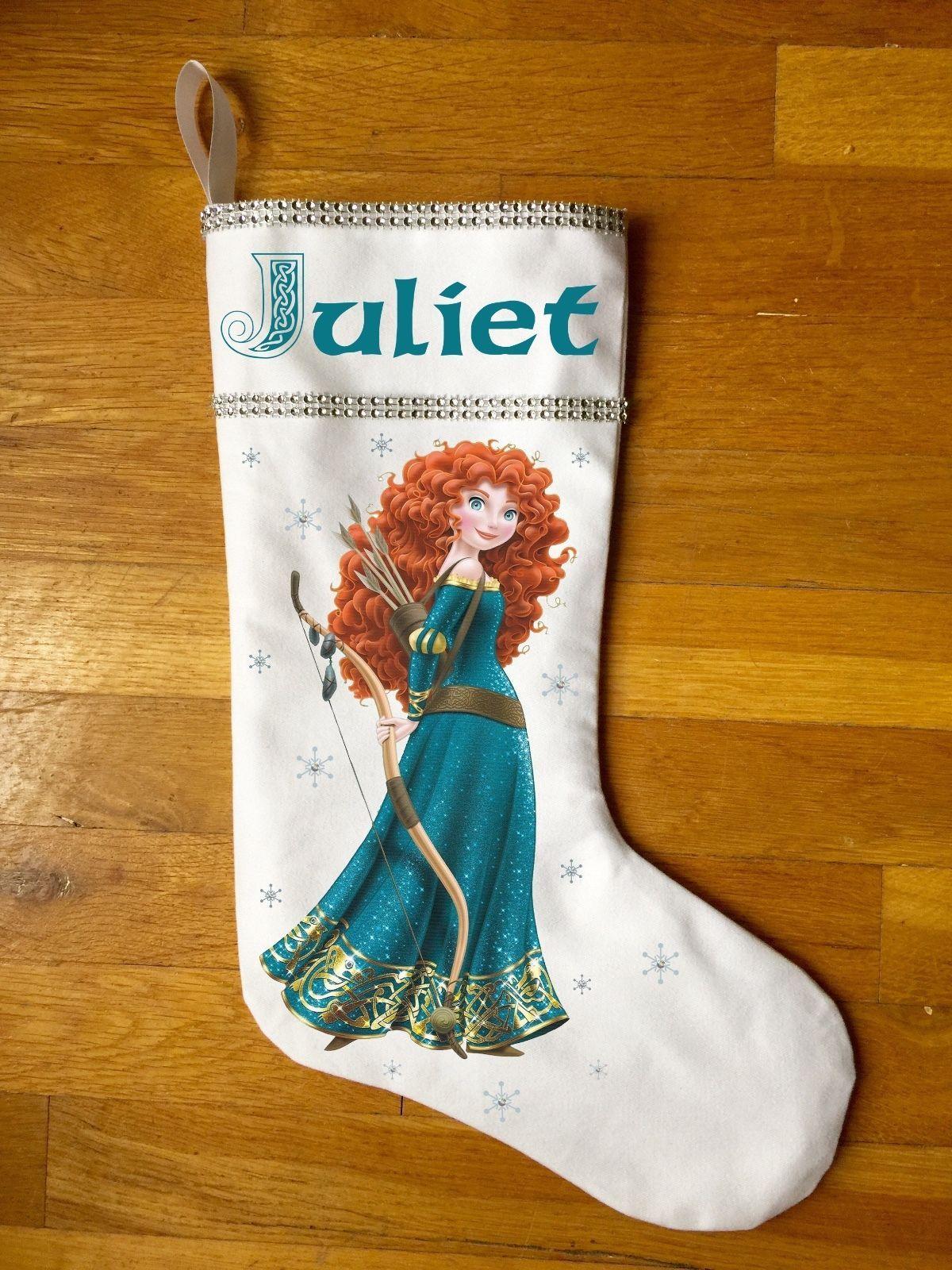 Princess Merida Christmas Stocking - Personalized Brave Christmas Stocking