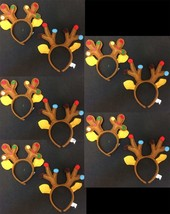 Kids Funny REINDEER ANTLER HEADBANDS Ugly Xmas Sweater Party-WHOLESALE 1... - $24.72