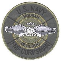 Usmc Us Navy Fmf Fleet Marine Force Corpsman Military Patch Devil Dog - $10.99