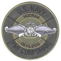 Usmc Us Navy Fmf Fleet Marine Force Corpsman Military Patch Devil Dog - $1,000.00