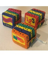Baby Blocks Books Cloth Shapes Colors Numbers Infant Soft Early Educatio... - $9.99