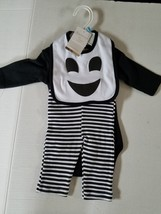 Modern Baby Halloween Ghost Infants 3 Piece Outfit Set 3/6 6/9 M NWT - $13.99