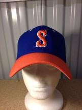 Pacific Headwear 6 7/8-7 3/8 FlexFit Blue Orange S Ball Cap Baseball Hat 998f - $9.49
