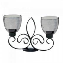 10017609 Gallery of Light Black Fleur De Lis Candle Stand - $24.53