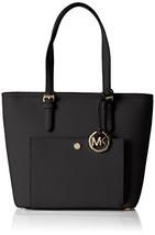 Fashion Michael Kors Jet Set TZ Snap Pocket Tote BLACK h906 l512 w1024 M... - $205.87