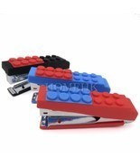 Bricks Lego Stapler Paper Portable office home school stationery staple ... - $9.96