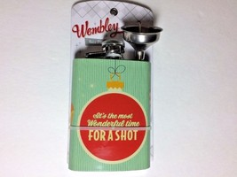 It's the most Wonderful time FOR A SHOT 4 oz Stainless Flask & Funnel Wembley - $12.82