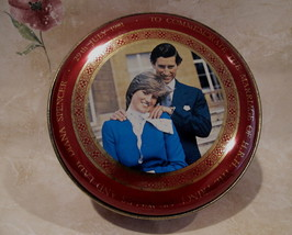 PRINCE CHARLES LADY DIANA WEDDING Tin Can Collectible MURCHIES TEA Royalty  - $14.95